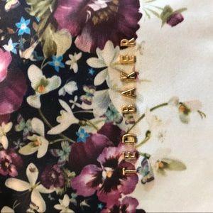 Ted Baker Bags - Ted Baker Navy Flower Satchel